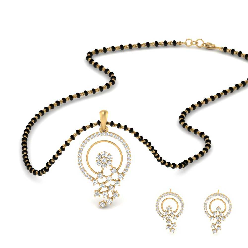 circle-pave-diamond-mangalsutra-pendant-and-earrings-in-MGS9624-NL-YG